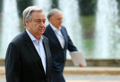 Secretario general de la ONU inicia visita oficial en Colombia