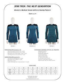 Star Trek TNG Women's Medical Smock Pattern
