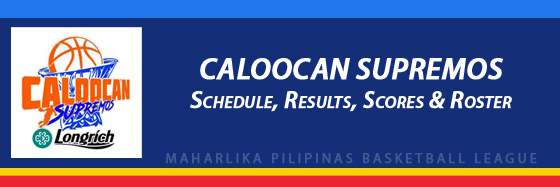 MPBL: Caloocan Supremos Schedule, Results, Scores, Roster