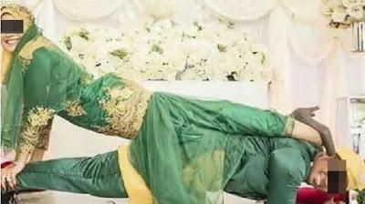 Heboh, Foto Pernikahan Ini Dinilai Tidak Sesuai Adat Melayu