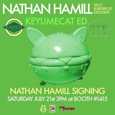 San Diego Comic-Con 2018 Exclusive BurgerCat KeylimeCat Edition Vinyl Figure by Nathan Hamill x Science Patrol