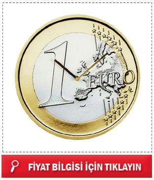 1 Euro Duvar Saati