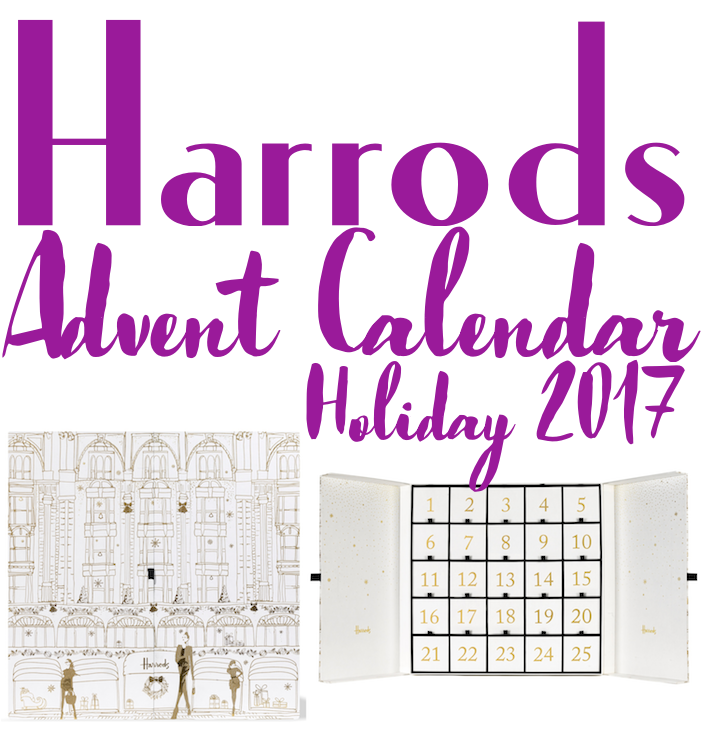 Full contents and spoilers of the Harrods Beauty Advent Calendar for Holiday 2017 - ships worldwide.