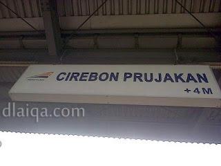 tiba di Stasiun Cirebon Prujakan