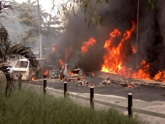 Image result for Explosions rock Borno, Yobe on election morning