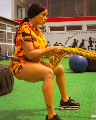 Nollywood Actress Uche Ogbodo turns fitness coach