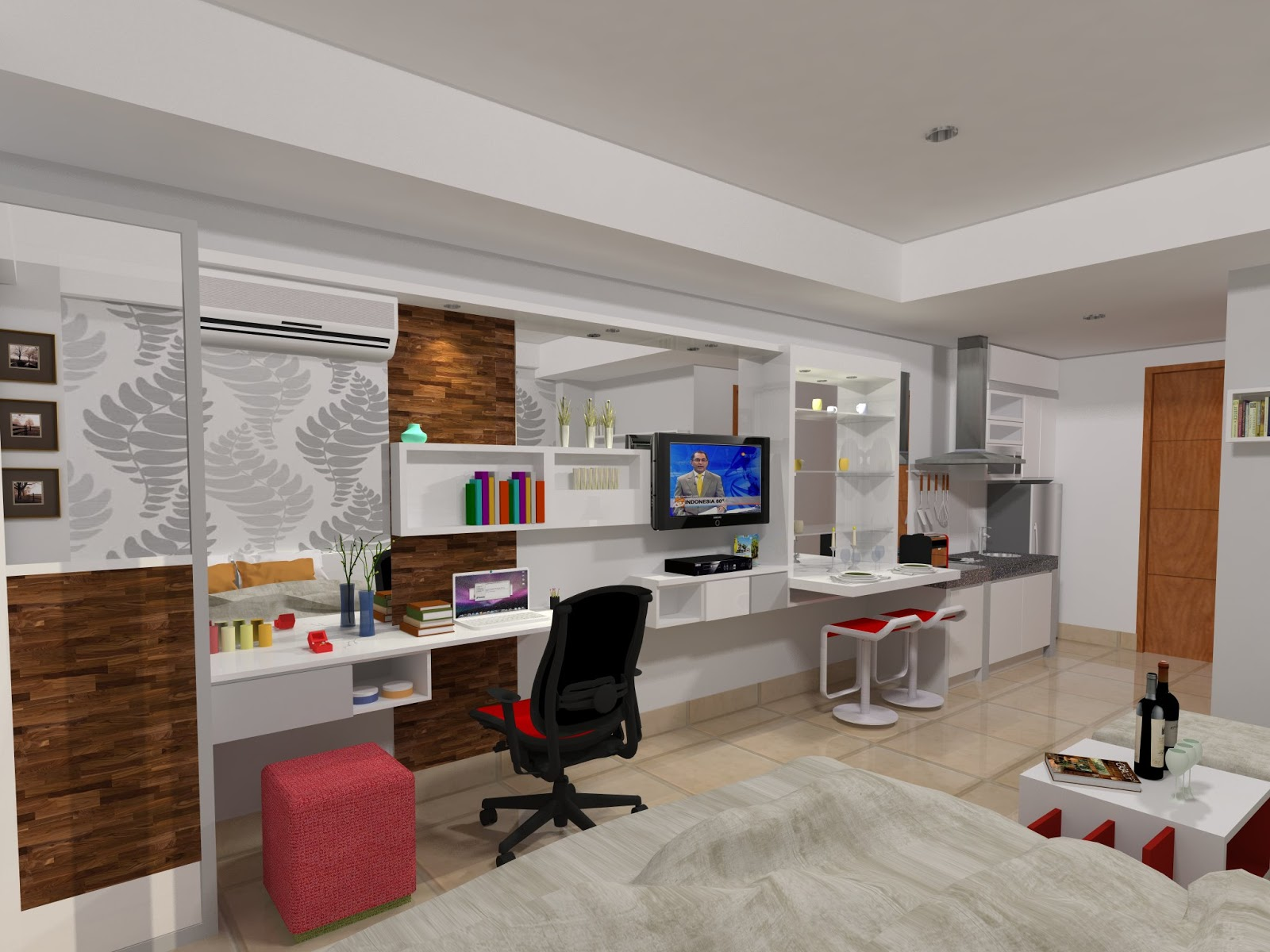 Sofa Studio Musik Bandung Contemporary White Uk Desain Interior Apartemen Tempat Tinggal Kantor