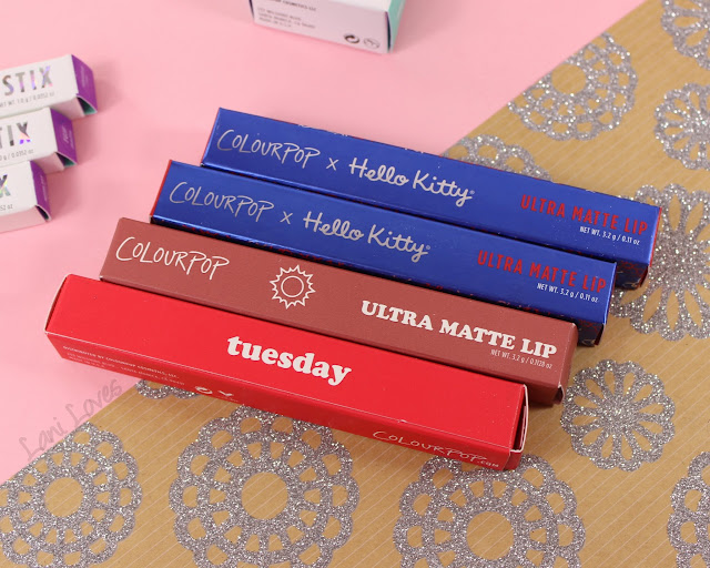 ColourPop Ultra Matte Lip - Sunday, Milk Bottle, Tuesday and Mimmy Swatches & Review