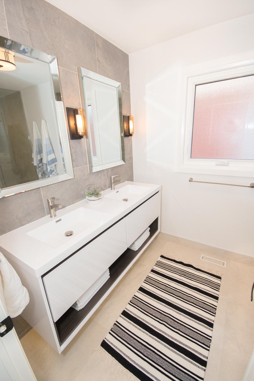 modern washroom remodel