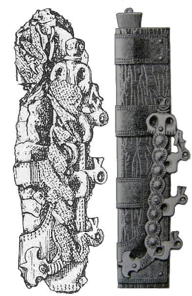 Wczesnośredniowieczna pochewka noża z Brześcia Kujawskiego