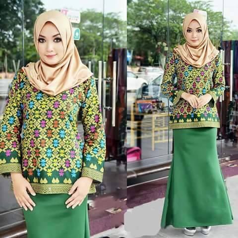 Trend Fashion Baju Batik Songket Sarawak Terbaru