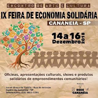 IX Feira de Economia Solidária de Cananéia