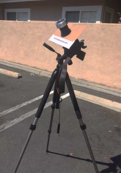 Setup with 300mm telephoto to practice for August 21 eclipse (Source: Palmia Observatory)