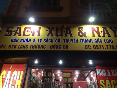 cửa hàng sách cũ hà nội