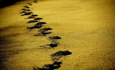 journey foot steps