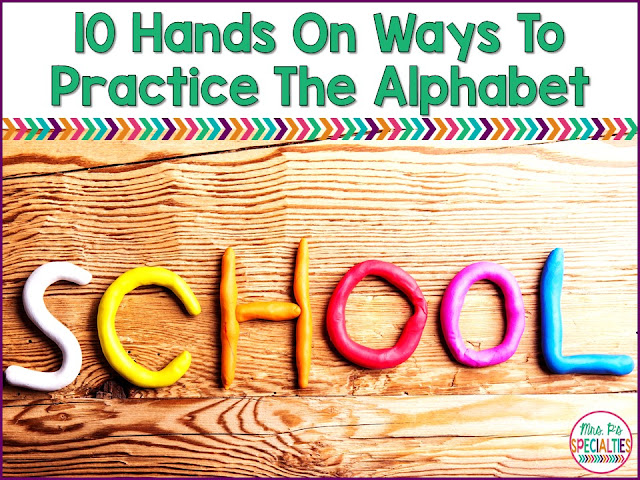 A solid understanding of the alphabet is needed to build solid reading skills. Here are 15 different ways to master the alphabet and generalize those skills. All of these activities are hands on and engaging to help keep your students' attention.