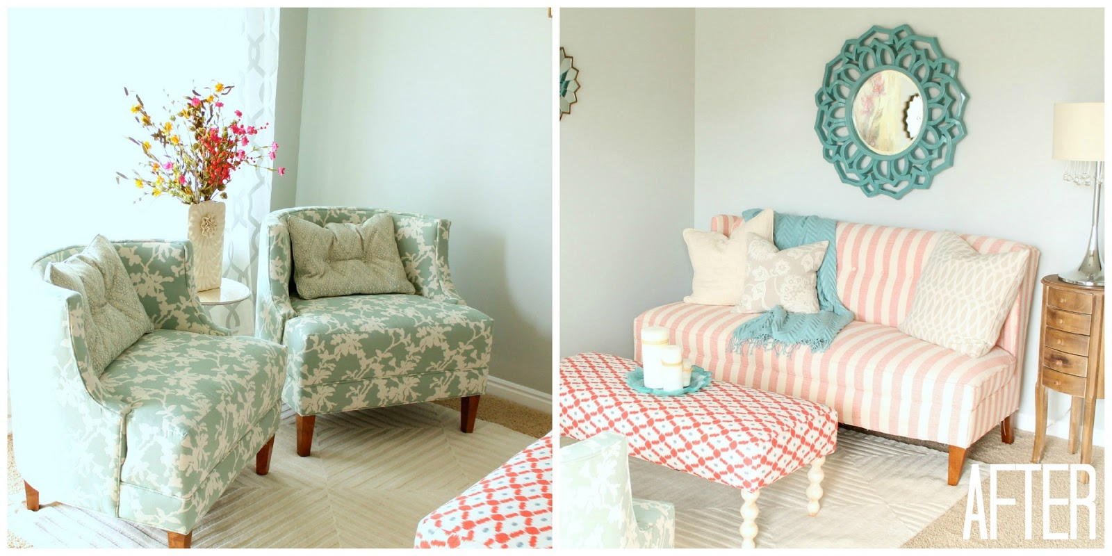 four chairs furniture ergonomic chair online living room makeover by six sisters stuff the walls to blinds it was all beige i knew if anyone up task of fixing lindy and her team at