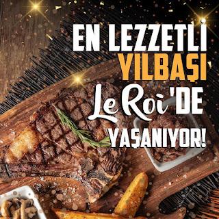le roi steakhouse bostanlı karşıyaka izmir yılbaşı programı menu fiyat