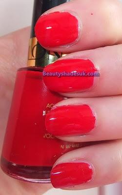 Revlon Red Nail Polish Swatch