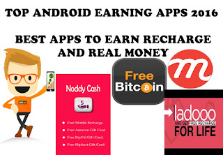 TOP EARNING APPS FOR ANDROID 2016