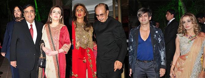 Mukesh and Nita Ambani, Adi and Parmeshwari Godrej, Yash and Avanti Birla