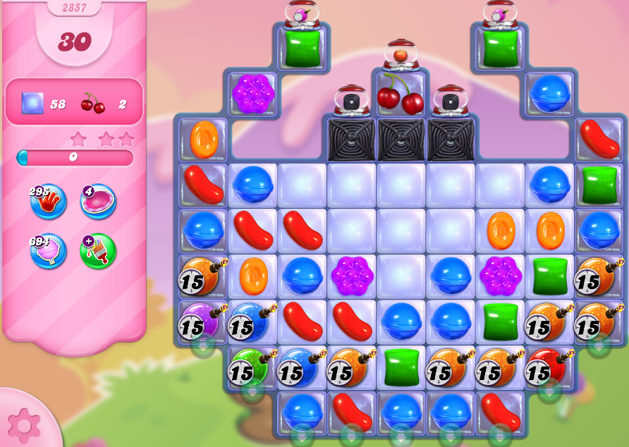 Candy Crush Saga level 2857