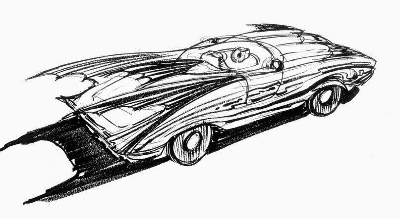 Tim Burton´s Batmobile concept art