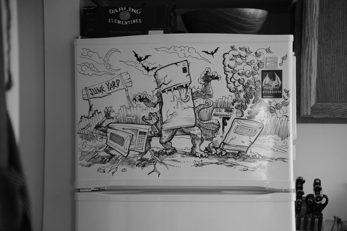 16-Revenge-of-the-white-goods-Charlie-Layton-Freezer-Door-Drawings-and-Illustrations-www-designstack-co