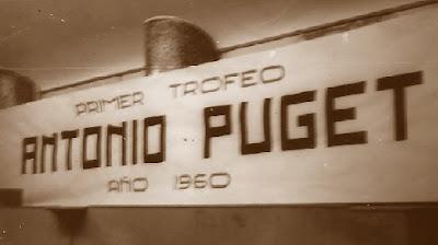 Pancarta del I Trofeo Antonio Puget, 1960