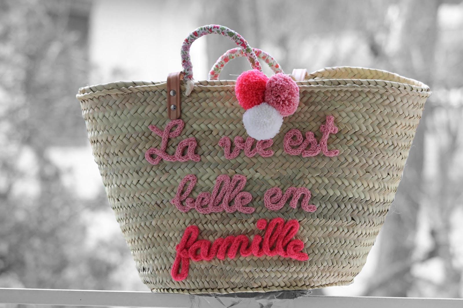 Exceptionnel L'atelier Des Petites Bauloises: Panier La vie est belle PG74