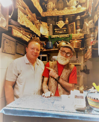 Among the shops that line the labyrinthine alleyways of Tehran's Grand Bazaar sits the Haj Ali Darvish teahouse. In a very small space, hardly two square meters, there's tons of love and kindness awaiting the customers.