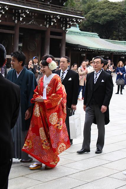 Mariages traditionnels au temple du Meiji-gu - voyage au Japon, Tokyo