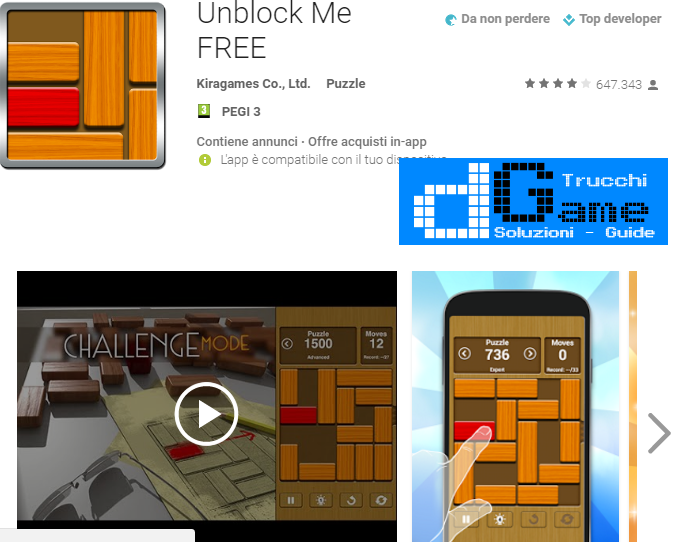 Trucchi Unblock Me FREE Mod Apk Android v1.5.6.0