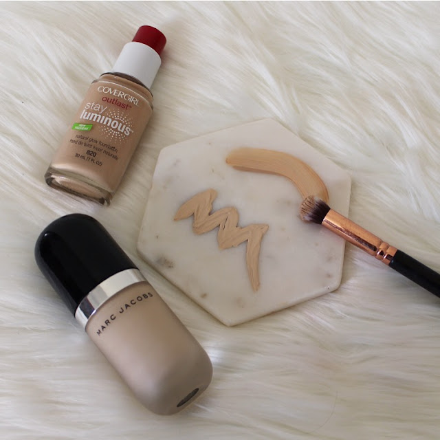 Customising foundation, foundation, covergirl, how to, marc jacobs, cover fx, nars, full coverage