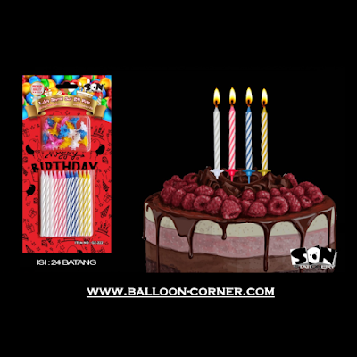 Lilin Spiral Warna Warni Set 24 Mini (SON Product)