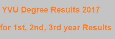 Manabadi YVU Degree Results 2017 - 2018