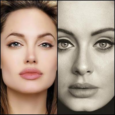 Adele dan Angelina Jolie