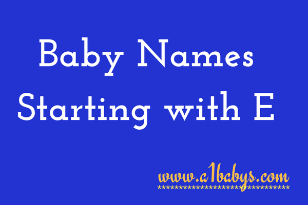 baby girl names starting with E