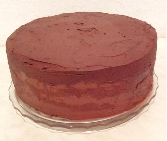 bestrichene Torte