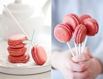 pink macaron lollipops, kid friendly wedding desserts