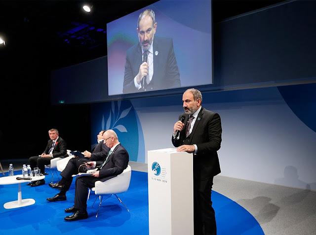 Pashinyan habla de Artsaj en la Conferencia de París