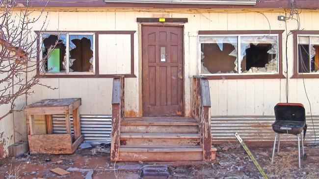 Abandoned Meteor City Trading Post near Winslow Arizona