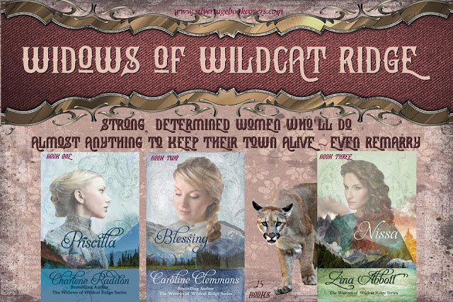 "Banner: ""Widows of Wildcat Ridge. Strong, determined women who'll do almost anything to keep their town alive ~ even remarry."""