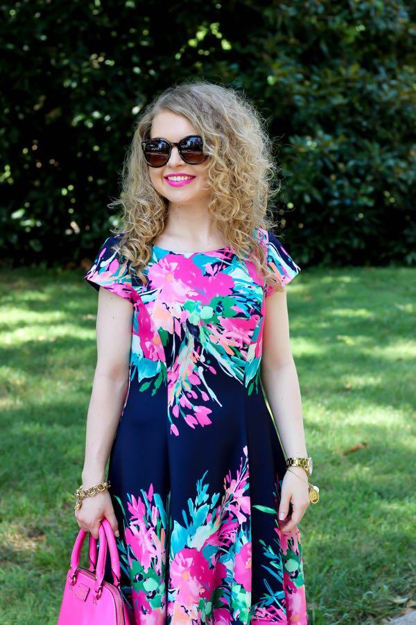 Eliza J. Floral Print Scuba Fit & Flare Dress, Nordstrom, Eliza J.