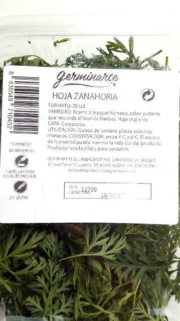 Hojas – Hoja de zanahoria - Germinarte - Brotes, germinados, floresy miniverduras