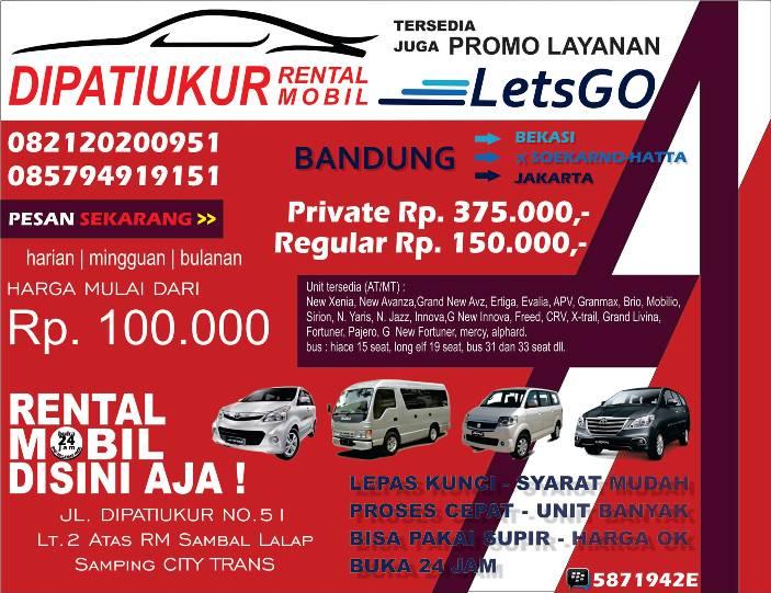 Rental Mobil Di Dipatiukur Bandung Datakota