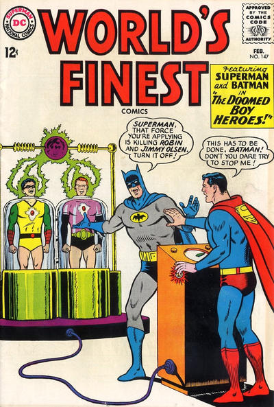 Episode #379 Part I: Superman Family Comic Book Cover Dated February 1965: World's Finest Comics #147!