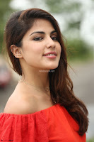 Rhea Chakraborty in Red Crop Top and Denim Shorts Spicy Pics ~  Exclusive 126.JPG