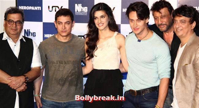 Trailor Launch of upcoming movie 'Heropanthi', Kriti Sanon at Heropanti Movie Trailer Launch