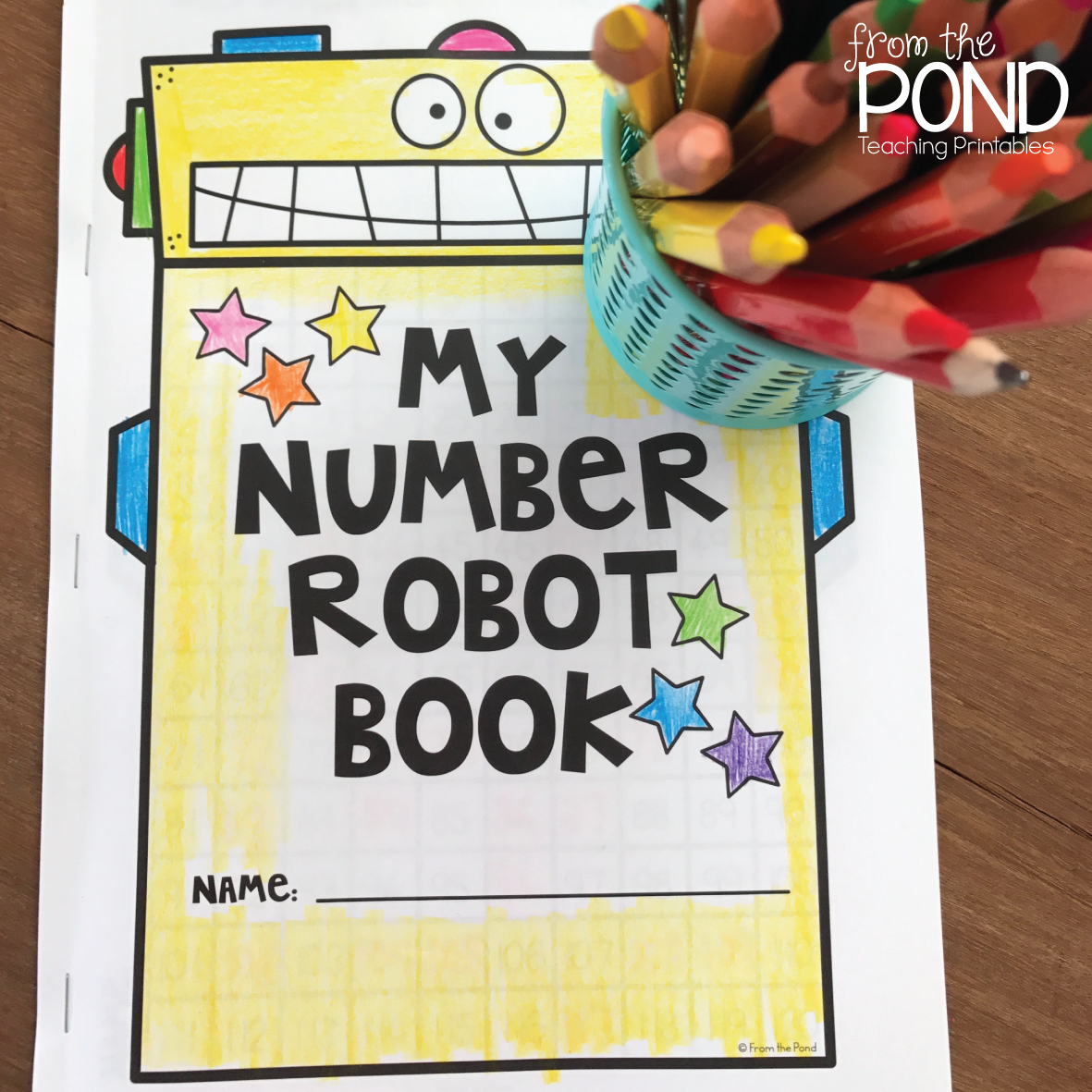 Robot 120 Chart Worksheets | From the Pond